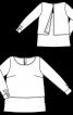 Блуза розкльошена з ефектом багатошаровості - фото 3
