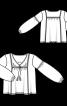 Блуза з вишивкою і пишними рукавами - фото 3