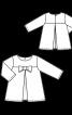 Блузка А-силуету зі складками - фото 3