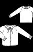 Блузка з відкладним коміром і оборками на рукавах - фото 3