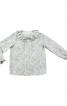 Блузка прямого крою з відкладним комірцем - фото 2