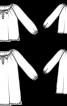 Блузка батистова з рукавами реглан - фото 3