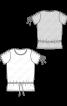 Топ-футболка з куліскою на талії - фото 3