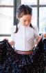 Блузка з пластроном і рукавами-ліхтариками - фото 1
