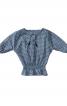 Блузка із суцільнокроєними рукавами і зборками - фото 2
