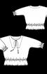 Блузка із суцільнокроєними рукавами і зборками - фото 3
