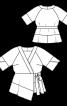 Блуза із запахом в стилі кімоно - фото 3