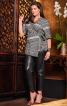 Блуза із запахом в стилі кімоно - фото 1