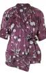 Блуза з асиметричною пілочкою з запахом - фото 2