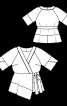 Блуза з асиметричною пілочкою з запахом - фото 3
