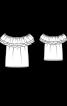 Блузка кармен з широкими воланами - фото 3