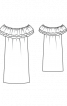 Сукня прямого крою з вирізом кармен - фото 3