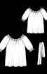 Туніка з вирізом кармен і рукавами реглан - фото 3