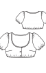 Блузка коротка в баварському стилі - фото 3