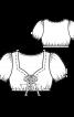 Блузка коротка з рукавами-ліхтариками - фото 3