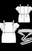 Блуза на широких бретелях - фото 3