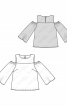 Блуза з широкими рукавами і відкритими плечима - фото 3