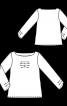 Блузка простого крою з оригінальними складками - фото 3