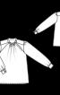 Блуза з боковою застібкою біля горловини - фото 3