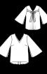 Блуза з розкльошеними рукавами - фото 3