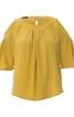 Блуза простора з вирізами на плечах - фото 2