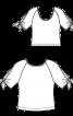 Блуза трикотажна з рукавами реглан - фото 3