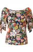 Блуза трикотажна з рукавами реглан - фото 2