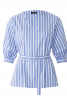 Блуза прямого крою з V-подібним вирізом - фото 2