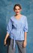 Блуза прямого крою з V-подібним вирізом - фото 1