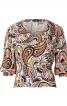 Блуза прямого крою з укороченими рукавами - фото 2