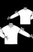 Блузка прямого крою з високим коміром - фото 3