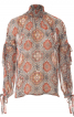Блузка прямого крою з високим коміром - фото 2