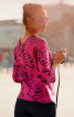 Блуза прямого крою з вирізом на спинці - фото 1