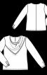 Блузка з ефектом вирізу-водоспаду - фото 3