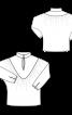 Блузка с треугольной кокеткой и воротником-стойкой - фото 3