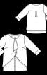 Блуза прямого крою з подвійними деталями - фото 3