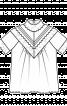 Блузка прямого крою з кокетками на переді і спинці - фото 3