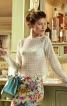 Блуза прямого крою з вирізом горловини човником - фото 1