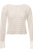 Блуза прямого крою з вирізом горловини човником - фото 2