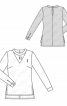 Блузка з мереживною вставкою - фото 3