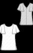 Блузка приталеного силуету з рукавами-крильцями - фото 3
