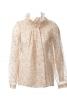 Блуза прямого крою зі складками - фото 2