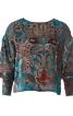 Блузка просторого крою з високими манжетами - фото 2