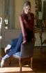 Блуза з оборками і брюки зі штрипками - фото 1