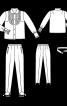 Блуза з оборками і брюки зі штрипками - фото 3