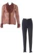 Блуза з оборками і брюки зі штрипками - фото 2