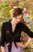Блузка приталеного крою з вузлом на талії - фото 1