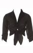 Блузка приталеного крою з вузлом на талії - фото 2