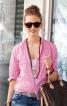 Блузка приталеного крою з рукавами 3/4 - фото 1