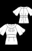 Блузка приталеного крою з рукавами-крильцями - фото 3